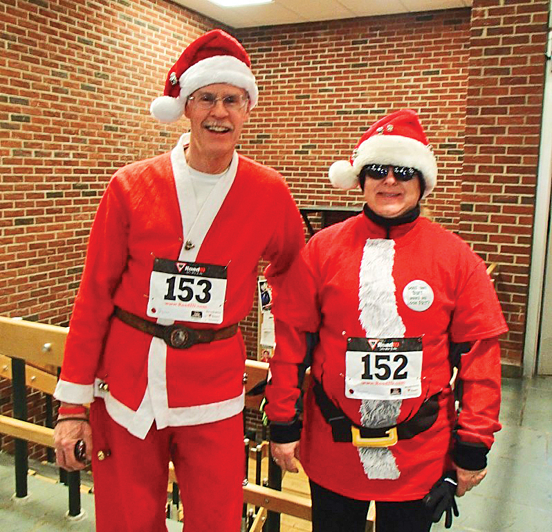 Getting into the spirit at the 2014 Reindeer Run.  Jill Pederson