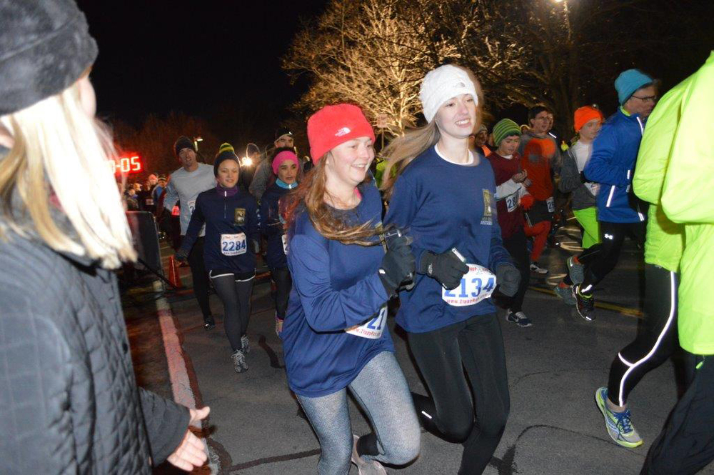 Start of the 2014 First Night Saratoga 5K.  Jennifer Allen