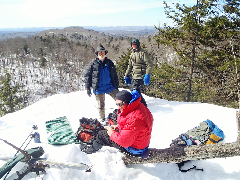 Lunch break at Good Luck Mountain Cliff in the southern Adirondacks.  Rich Macha