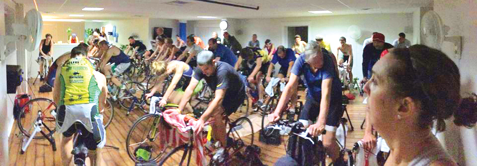 2015 spinning class at 365 Fit in Delmar. John Guastella