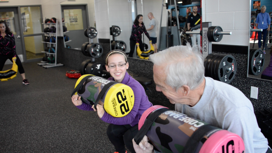 Core bag workout at the Greenbush YMCA.   Capital District YMCA