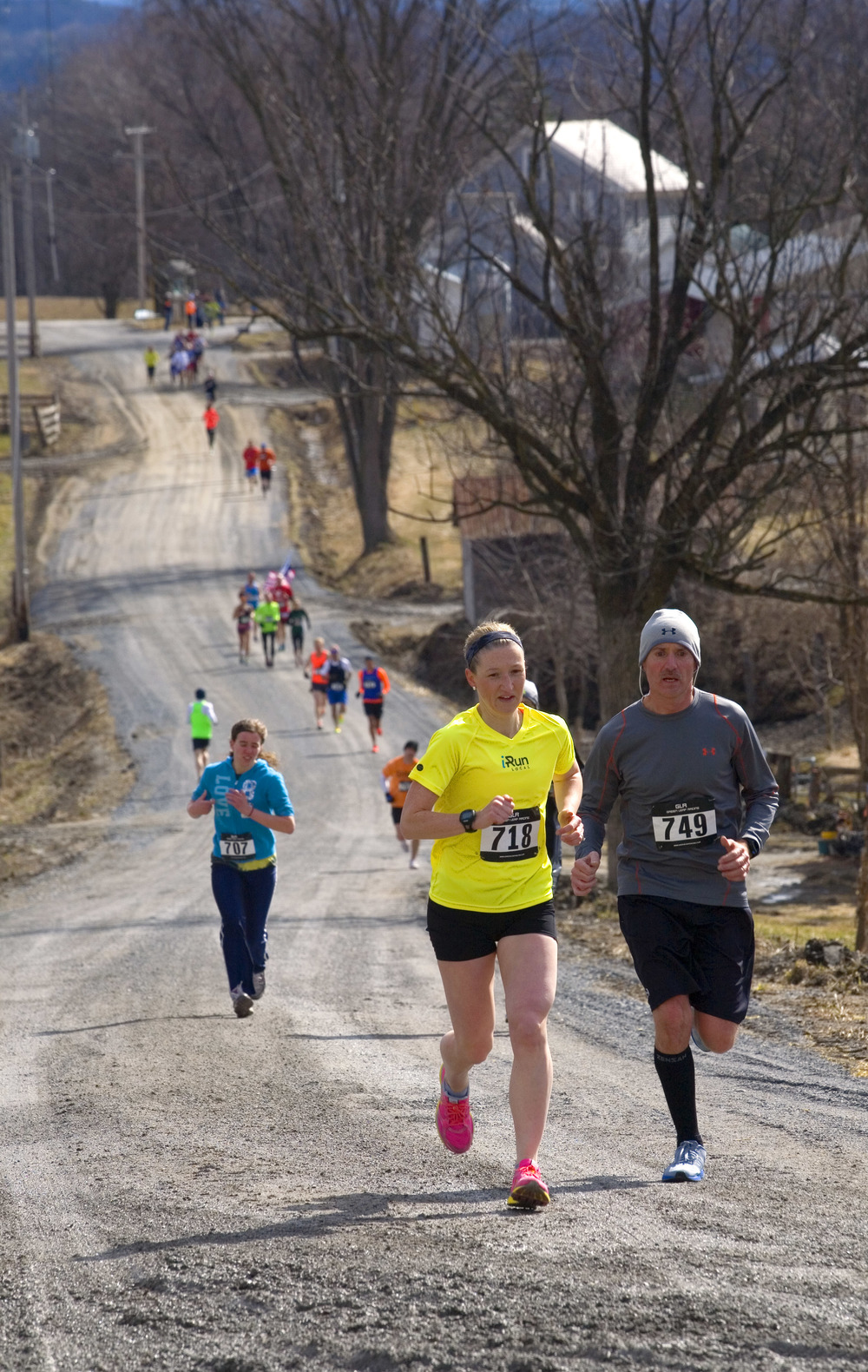 Peck Lane During the 2015 Bacon Hill Bonanza 10K.   Jim McKnight