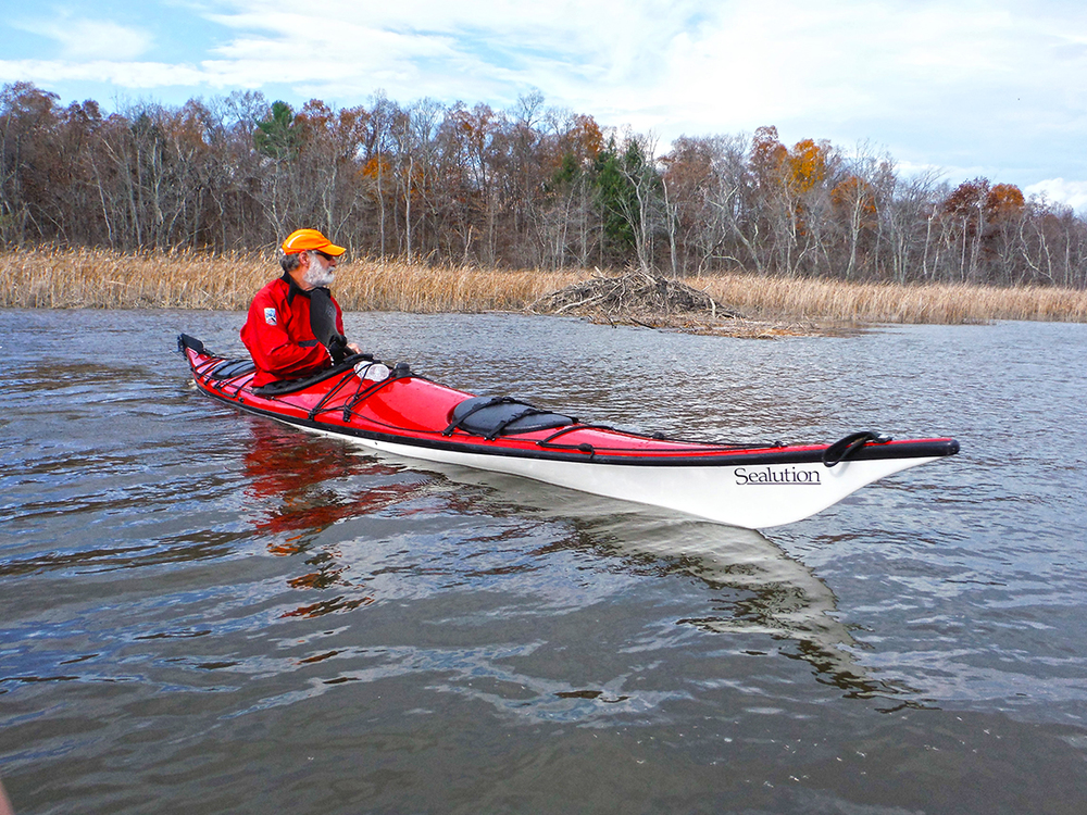 Steve Burke of Albany explores Hudson River marshes north of Athens.    Rich Macha
