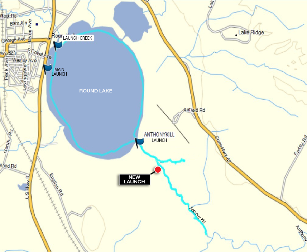 The track of Alan's 5 mile paddle.