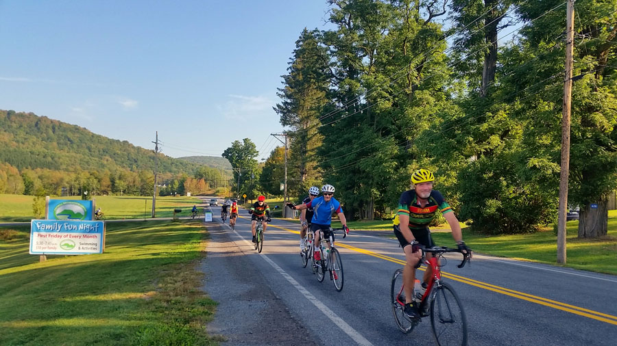 2015 Catskill Mountain Cycling Challenge in Arkville.   Catskill Recreation Center