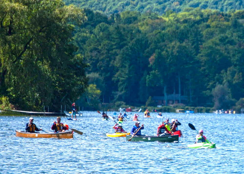 Five-mile canoe, kayak and SUP sprint at Josh Billings in 2015.   John Marran