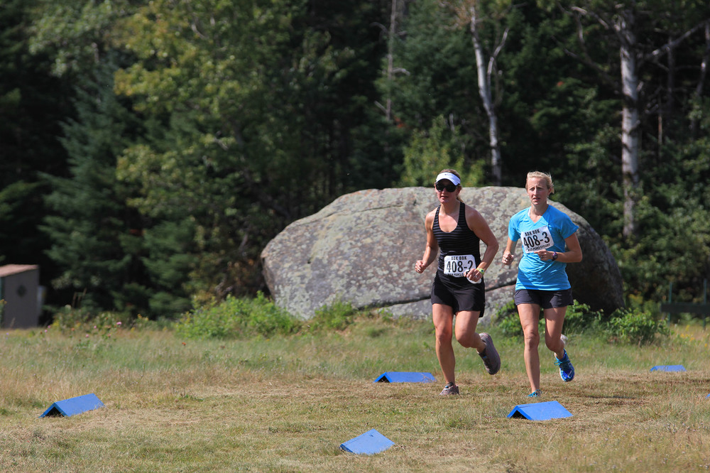 Runners in 2015 ADK 80K Trail Race.  HPC