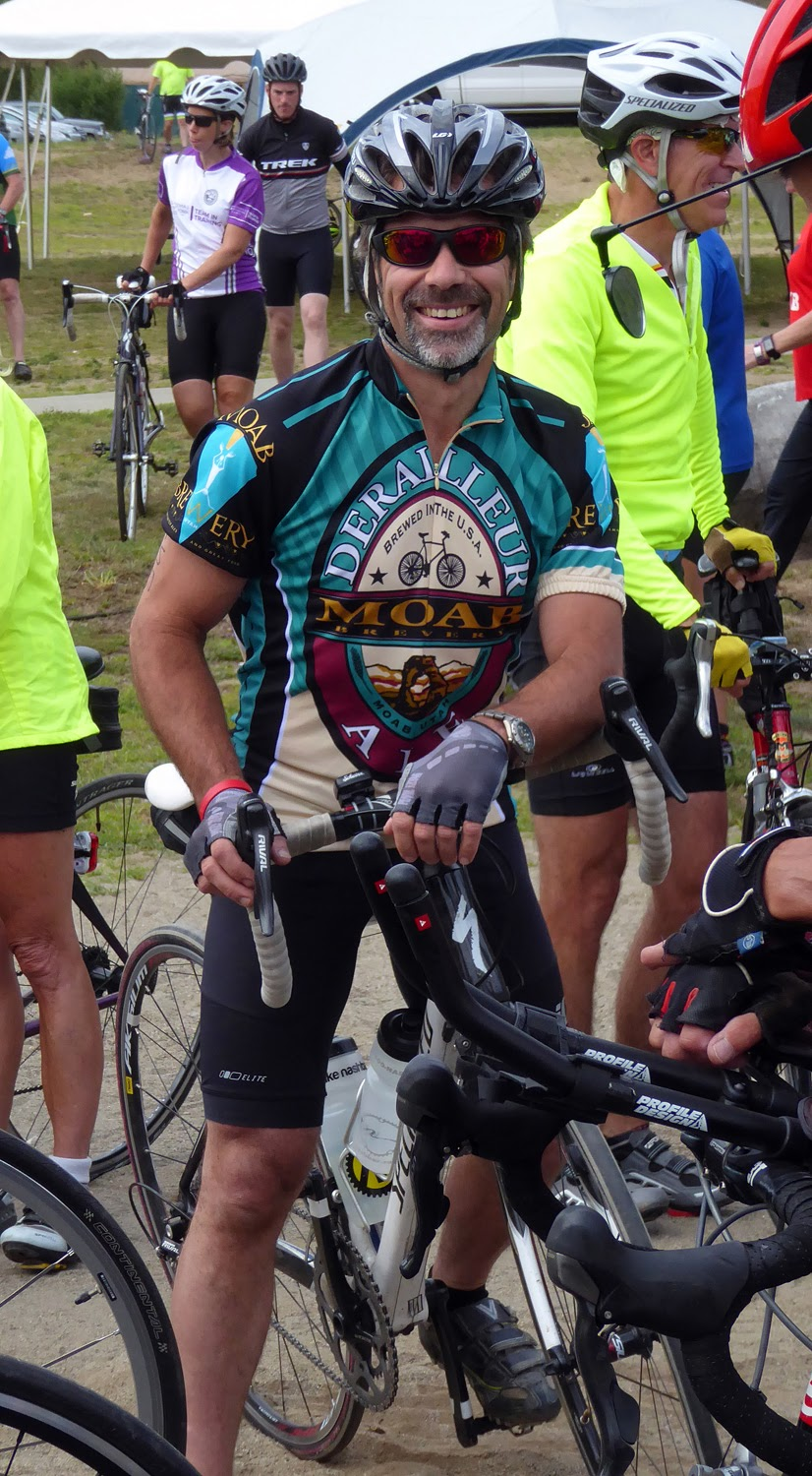 Steve Goldstein of Watervliet gets ready to start the 2016 Ididaride at Ski Bowl Park in North Creek.   Copyright by Dave Kraus/ Krausgrafik.com
