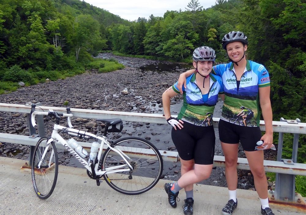 Stopping to admire the scenery and pose for a photo on the Sacandaga River bridge at the junction of Routes 8 and 30.   Copyright by Dave Kraus/ Krausgrafik.com