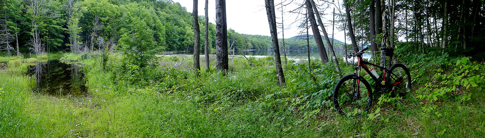 A rest stop on the shore of fifth Lake shows a panorama of the beauty in this recently opened wilderness area.  © Dave Kraus/ Krausgrafik.com