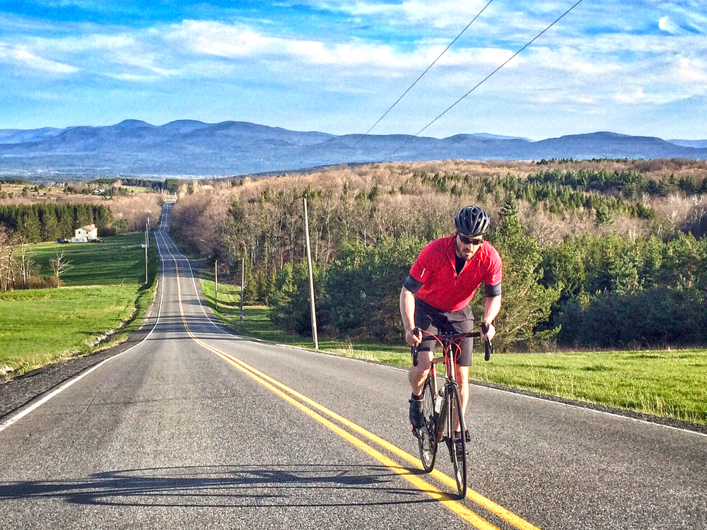 Rensselaerville Ride course with the northern Catskills in the background.  Carey Institute
