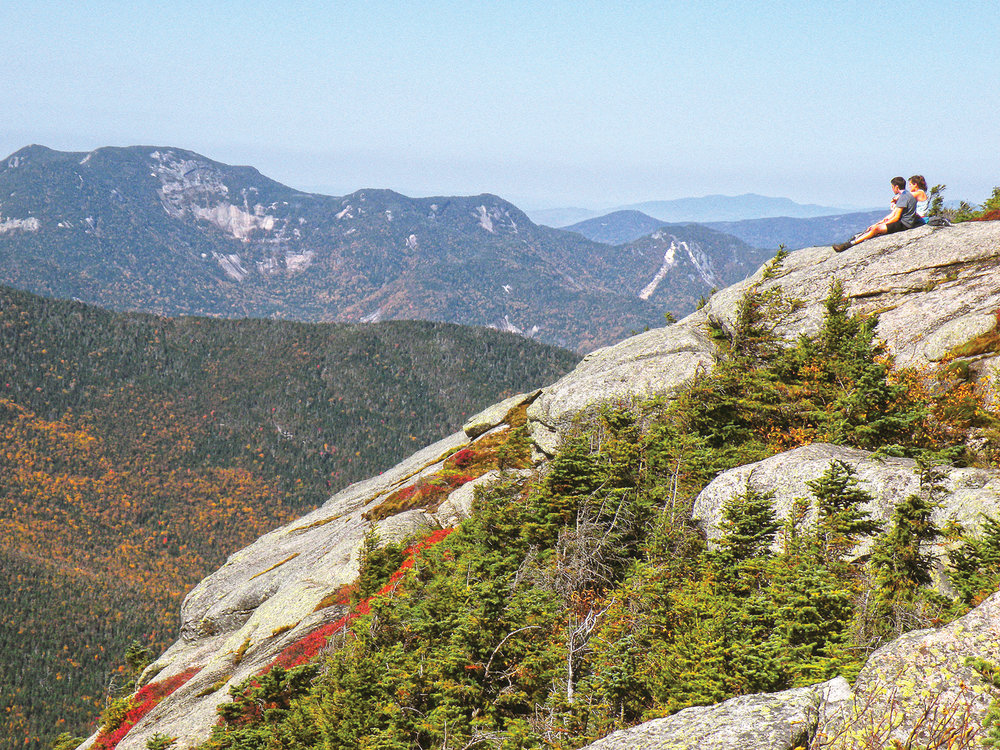 ▲ Hikers reaching the Dix summit are rewarded with this perfect view of Gothics.  Bill Ingersoll