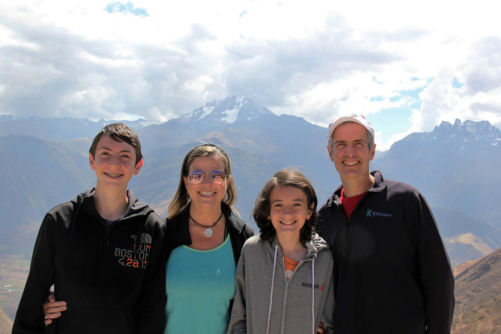 Hoffman family in Peru.