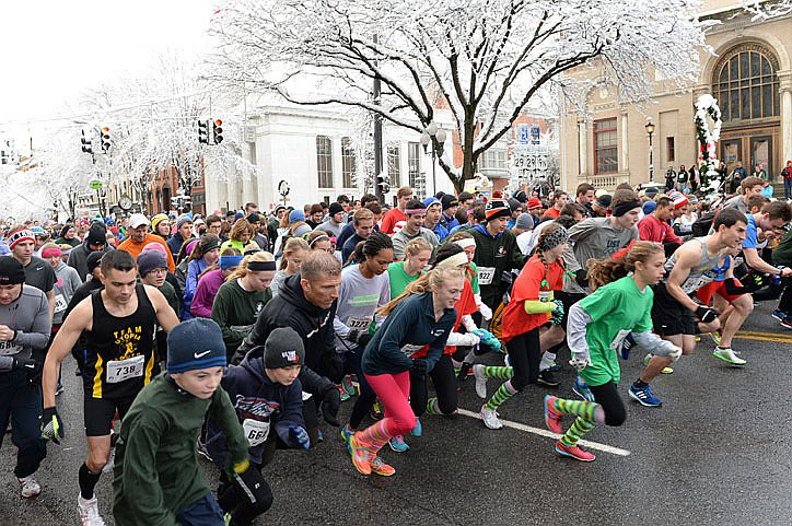 2014 Christopher Dailey 5K Turkey Trot in Saratoga Springs.  Courtesy Patrick Dodson/Daily Gazette