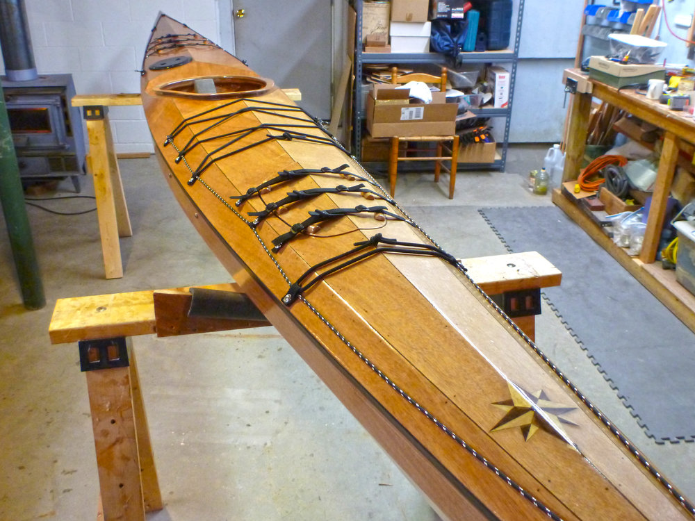 The finished Murrelet from Pygmy Boats, ready for the water. Alan Mapes