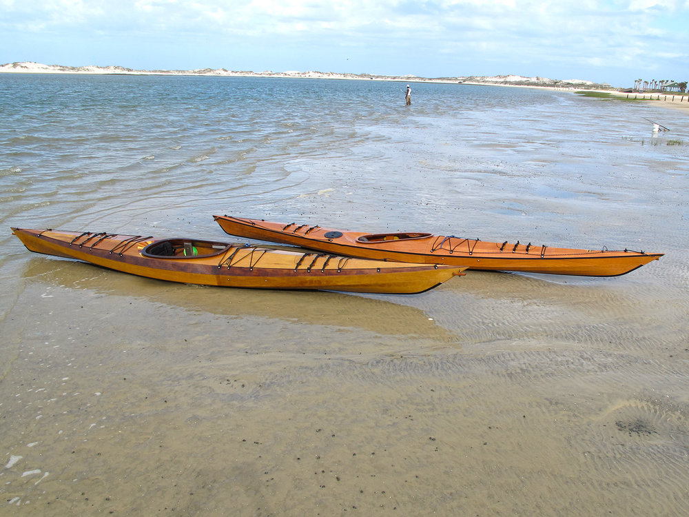Murrelet and Borealis kayaks from Pygmy Boats, Cumberland Island, Georgia. Alan Mapes