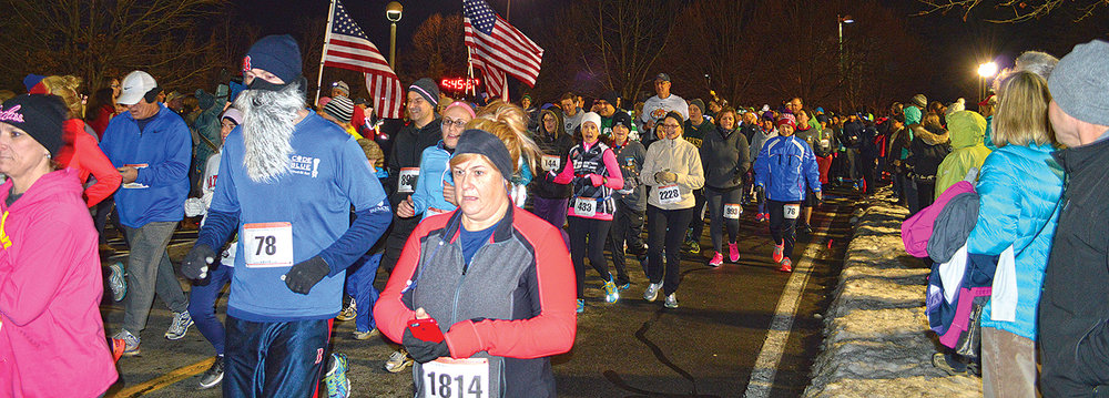 Last year's First Night 5K in Saratoga Springs. Jennifer Cubell