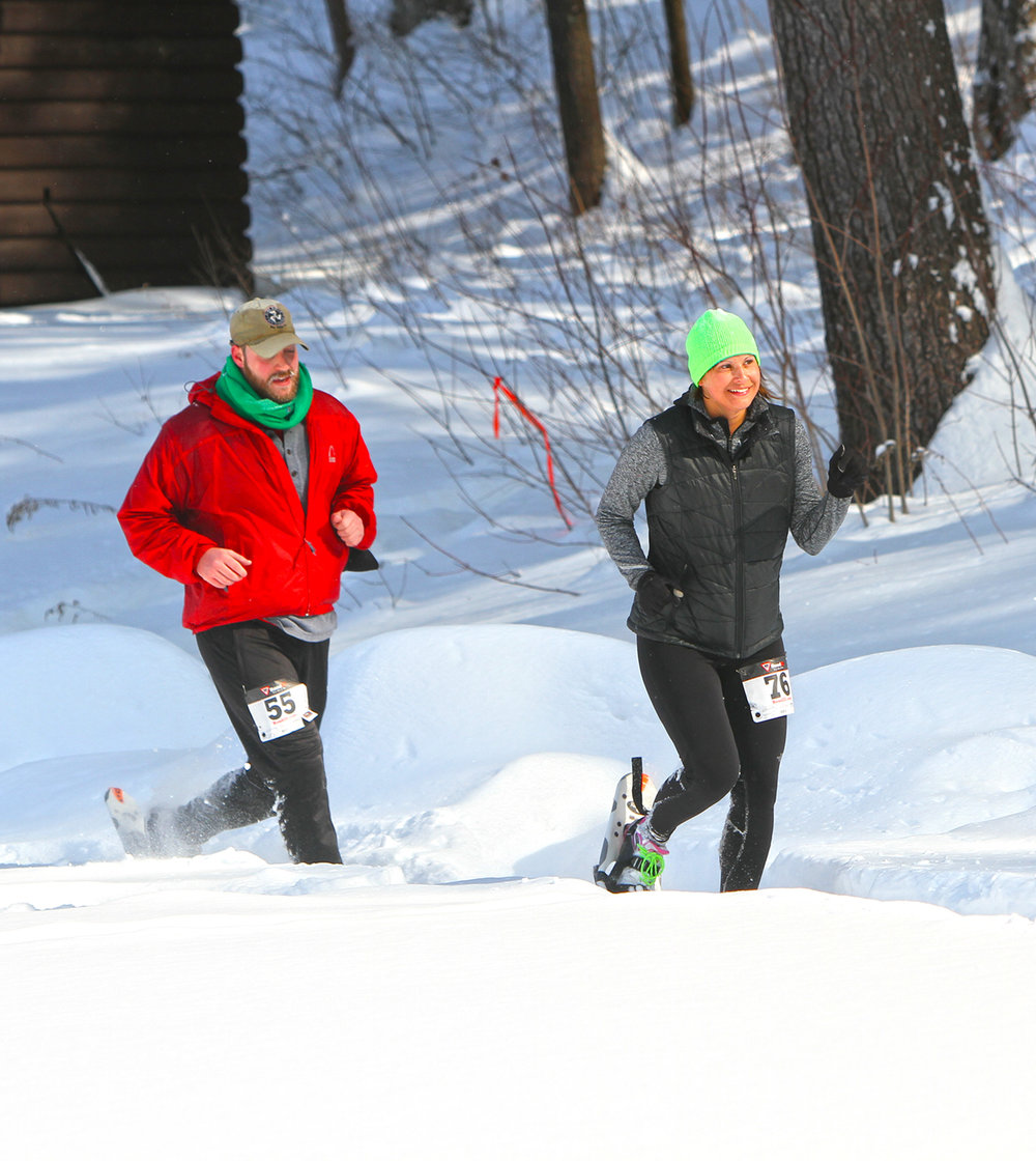 2015 Camp Saratoga 8K Snowshoe Race  at Wilton Wildlife Preserve & Park.  Brian Teague