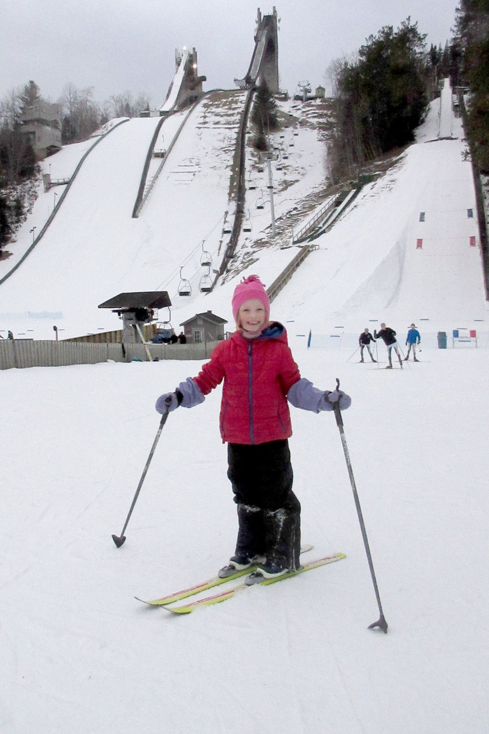 Greenfield's best at the ski jumps in Lake Placid. Chris Yarsevich