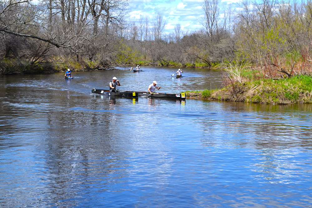 C1 pros racing on the Little River.
