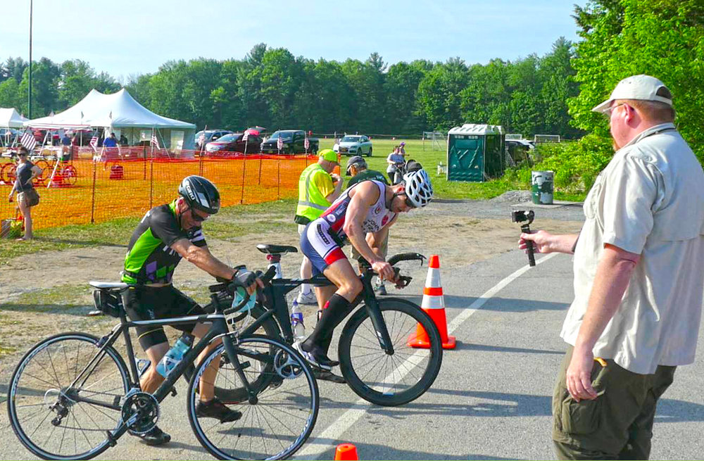 ▲ Bikers on their way out at the 2016 Saratoga Lions Duathlon.  Gail Stein/Brendan O'Donnell