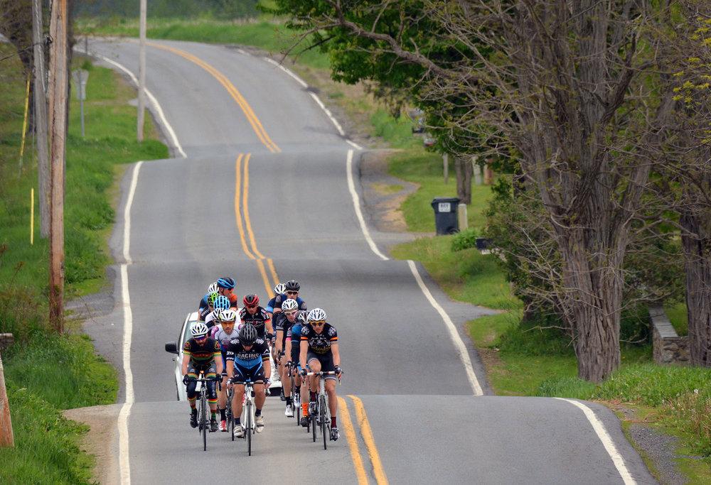 Riders on County Rt. 59 in Washington County.  © Dave Kraus/  krausgrafik.com