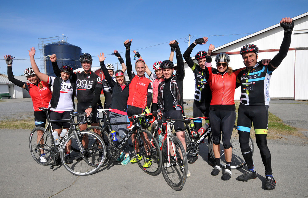 This group of friends were all celebrating finishing.  © Dave Kraus/  krausgrafik.com