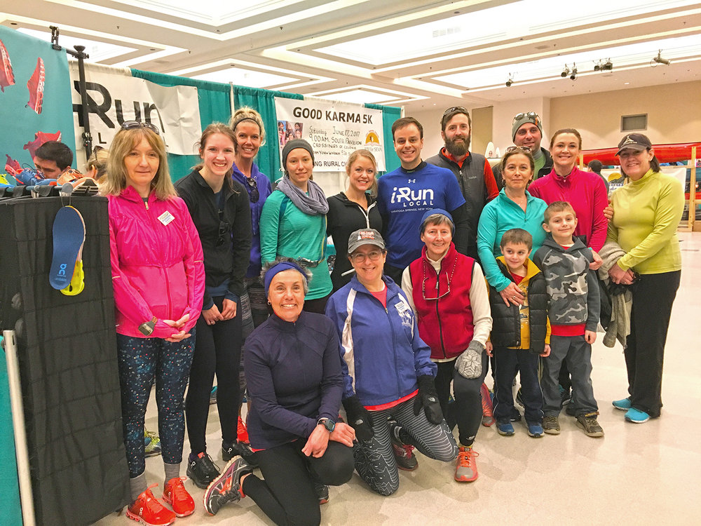 MONA CARON  Saratoga running shop iRun Local held a morning run on Sunday morning starting from the expo and ending with a bruch for all participants.