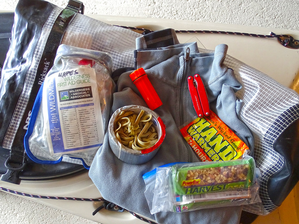 Safety bag contents. Alan Mapes