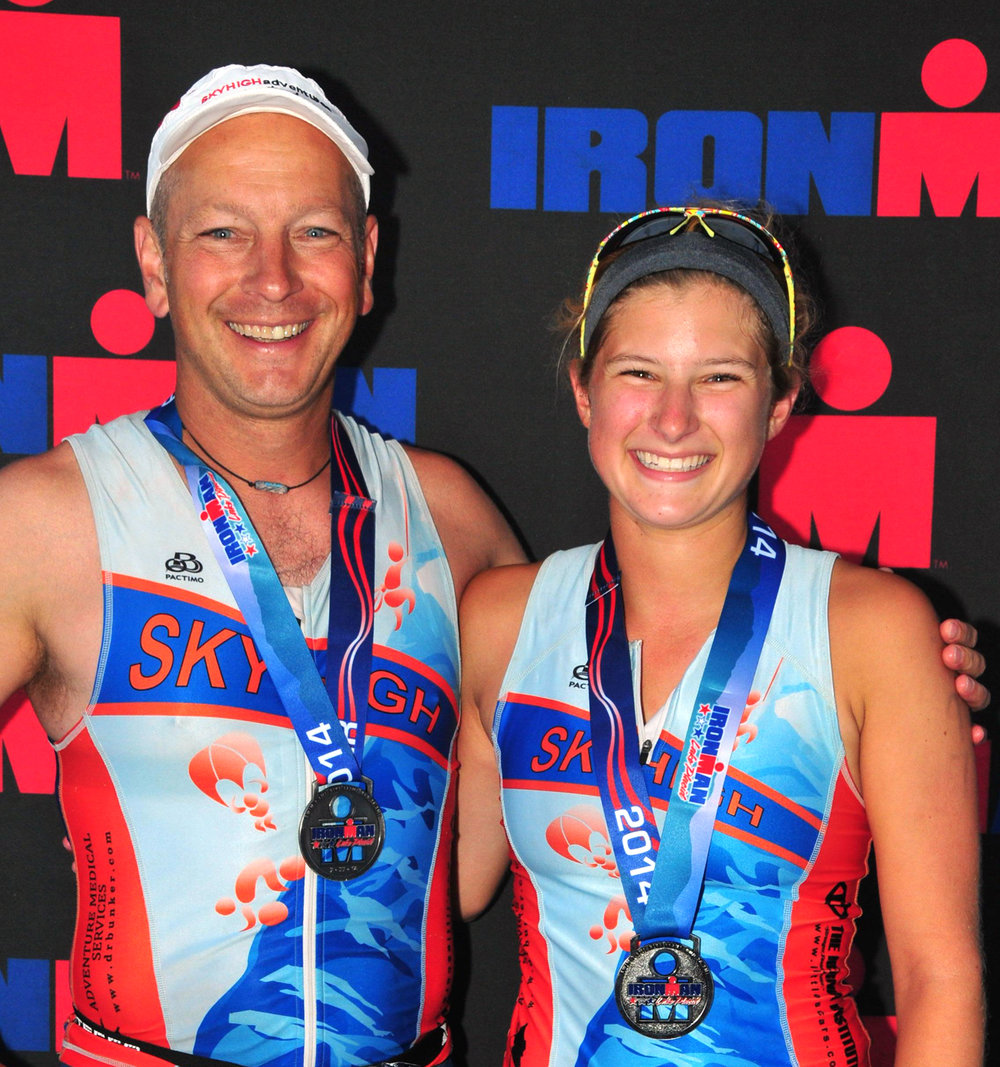 John and Julia,   2014 Ironman Lake Placid.
