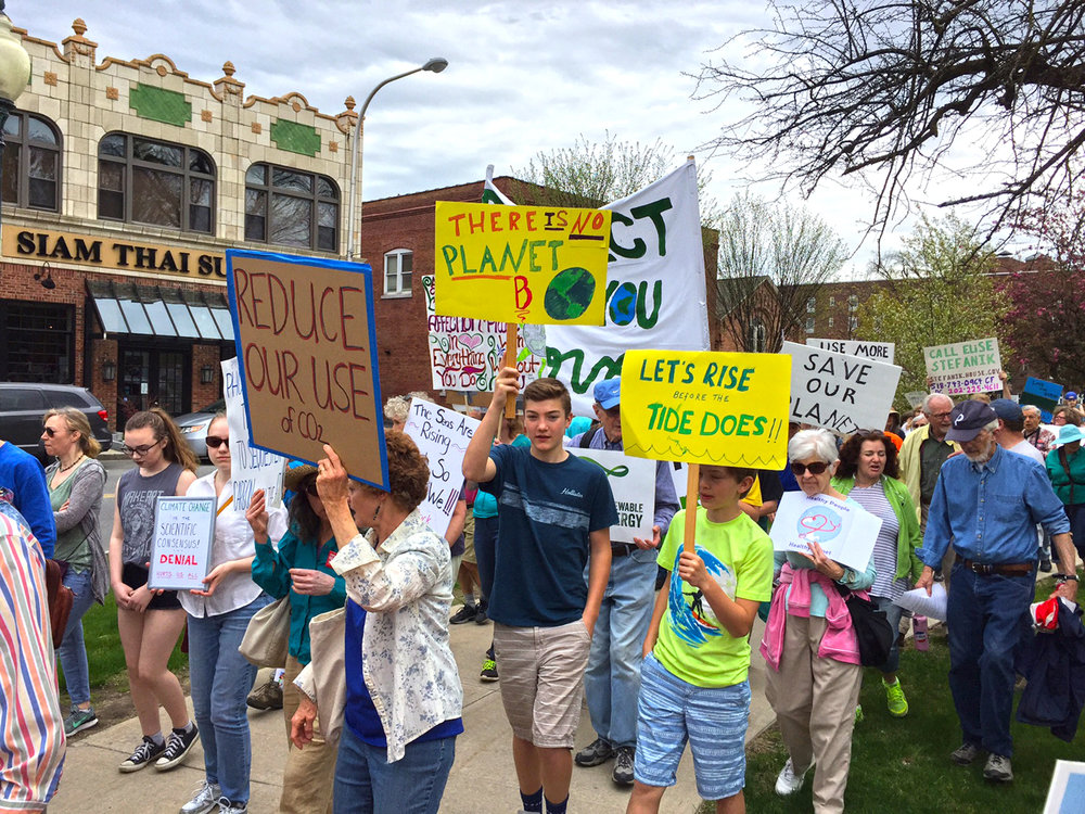 People's Climate March in Glens Falls on April 29.   Darryl Caron