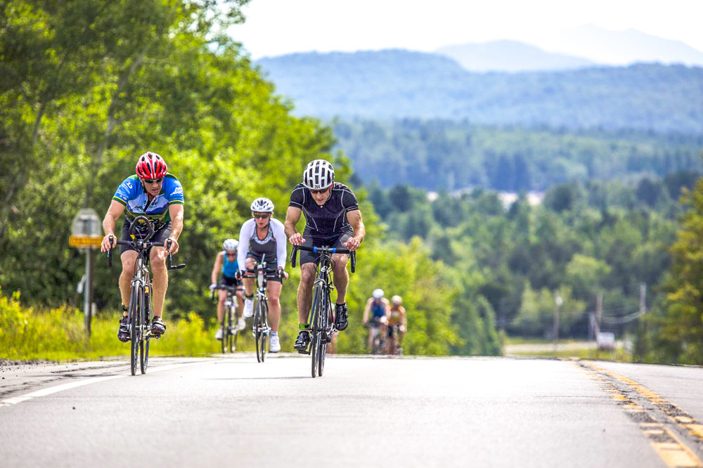 Beautiful backdrop on the bike course at the Tupper Lake Tinman.  Courtesy of Tupper Lake Tinman.