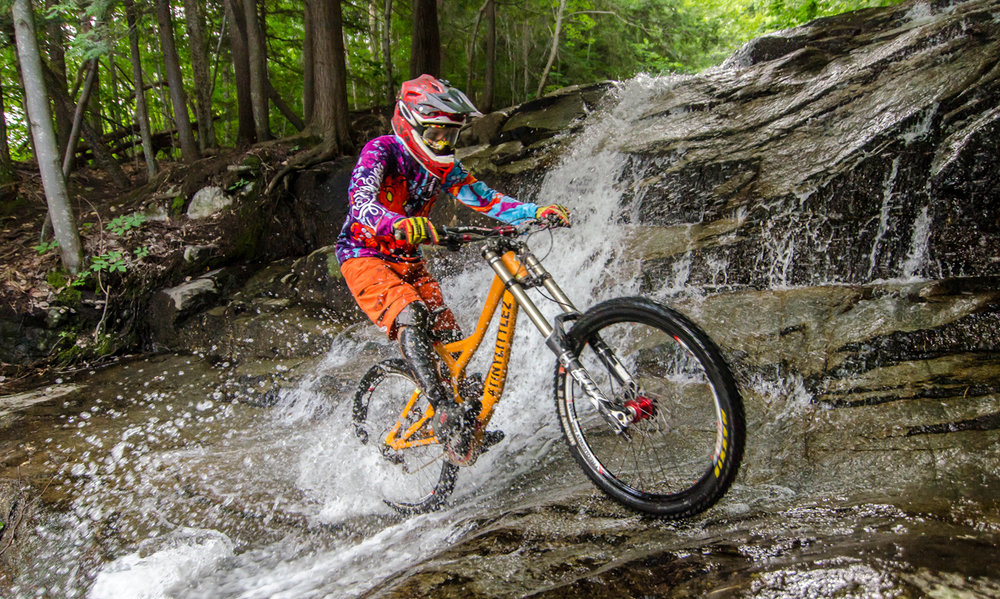 Henry Lopez at the Stag Brook crossing on Trail #5 (aka: The Judge). Vasily Bragin