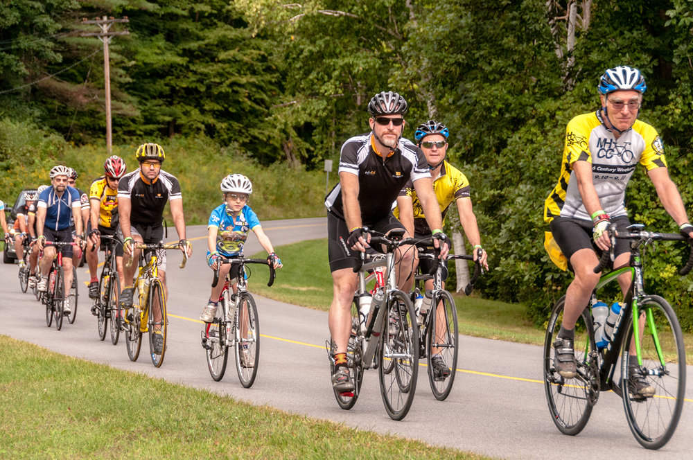 A ride start at the 2016 MHCC Saratoga Century Weekend.  Bob Cohen