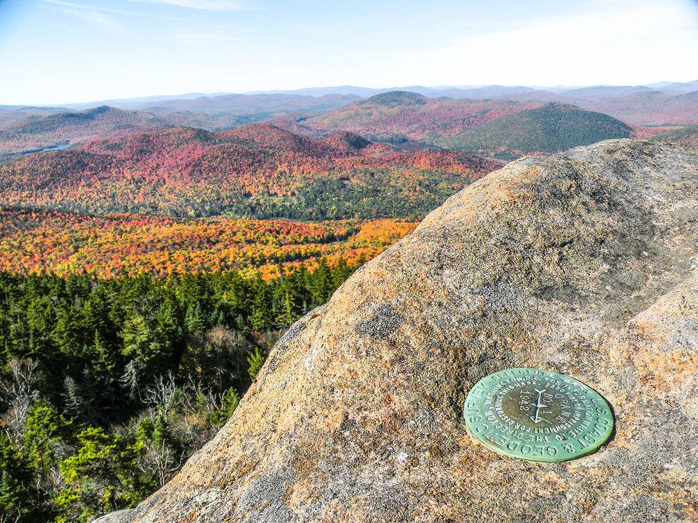Crane Mountain survey marker.   Bill Ingersoll