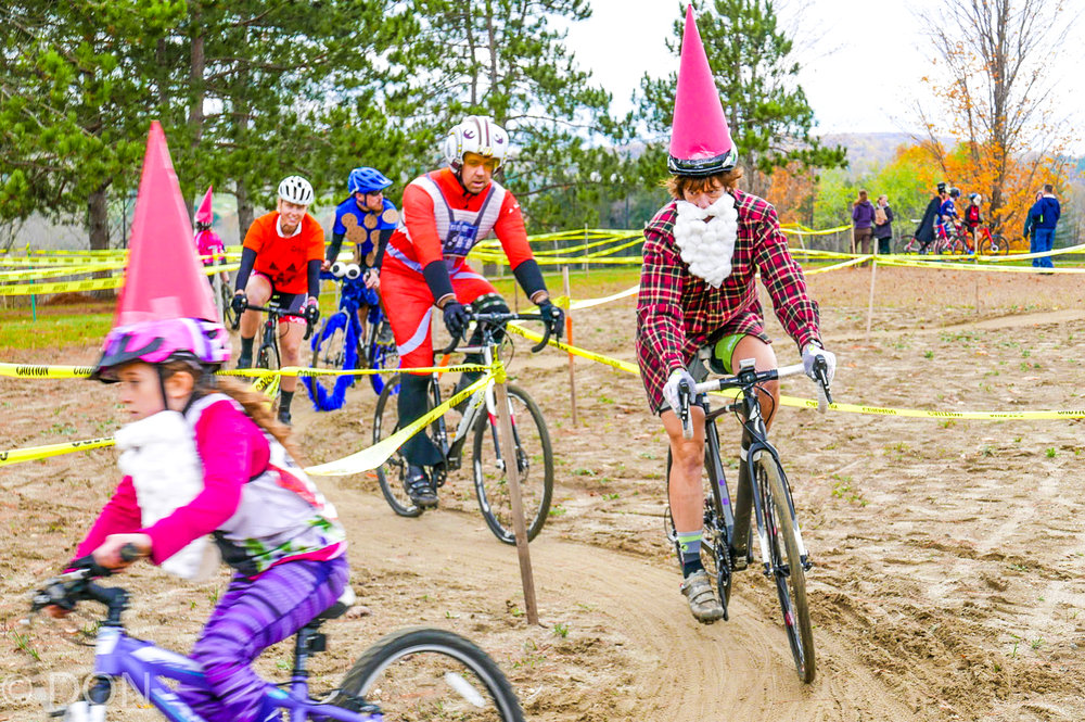 Wicked Creepy Cross in Bennington, Vt., features a signature costume lap as a brief respite from the real race action. Don Massone