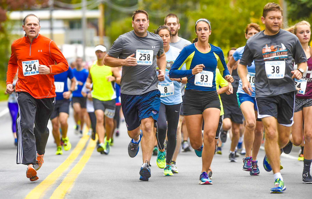 Apple Run 5K in Burnt Hills, 2016. Peter Barber