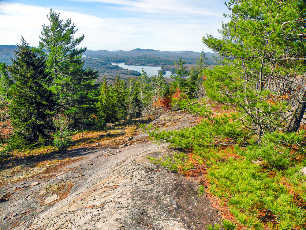 The summit of Blueberry Mountain provides incredible views of Long Lake. Bill Ingersoll