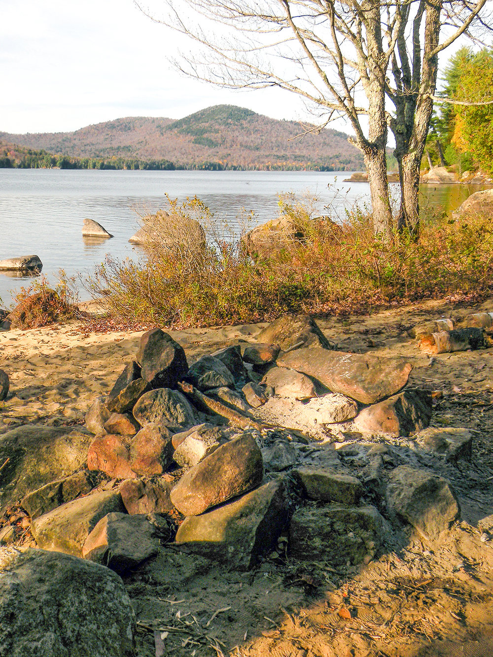 Campsite south of Kelly Point.   Bill Ingersoll