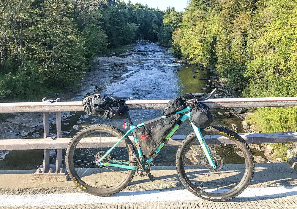 Bike setup in Essex, during The Adirondack Trail Ride.