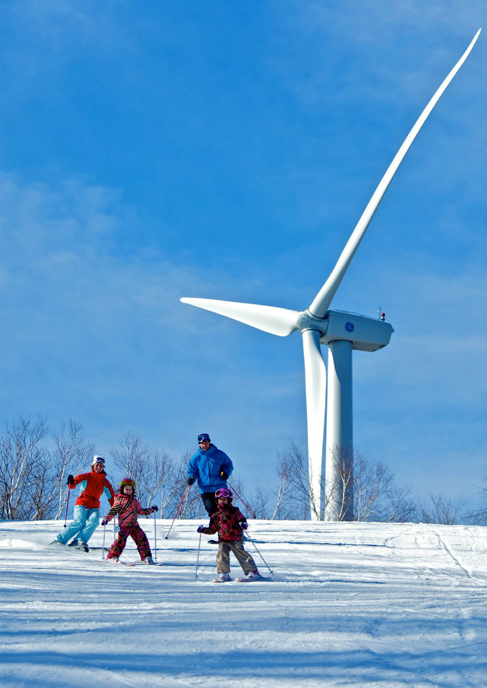 Jiminy Peak wind turbine.   Jiminy Peak Mountain Resort