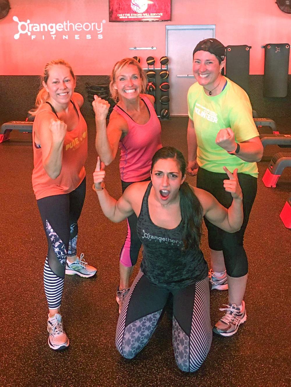 Training buddies at OrangeTheory Fitness.