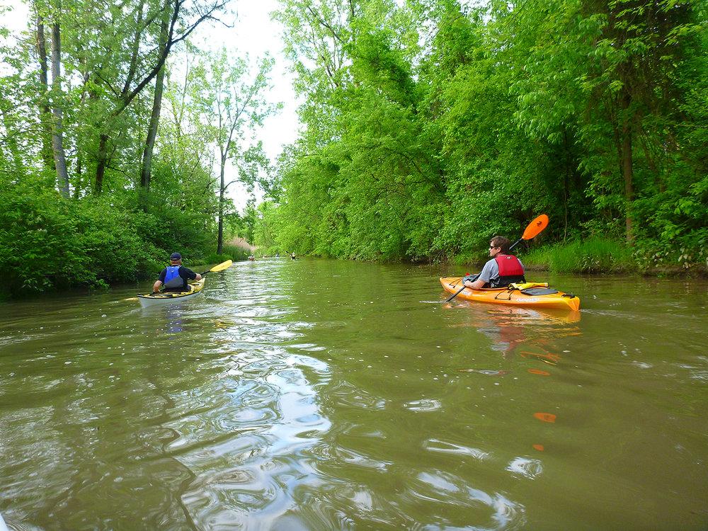 ADK paddlers on Papscannee Creek.   Alan Mapes