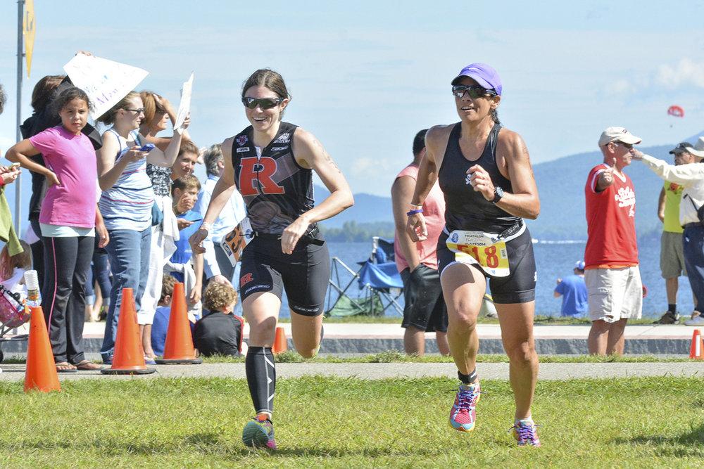 Lake George Triathlon Fest: 2014 run start.  Pat Hendrick Photography