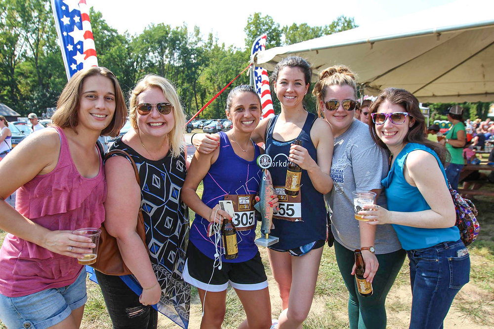 It's a party at the 2017 ADK5K.  Carl Ewald