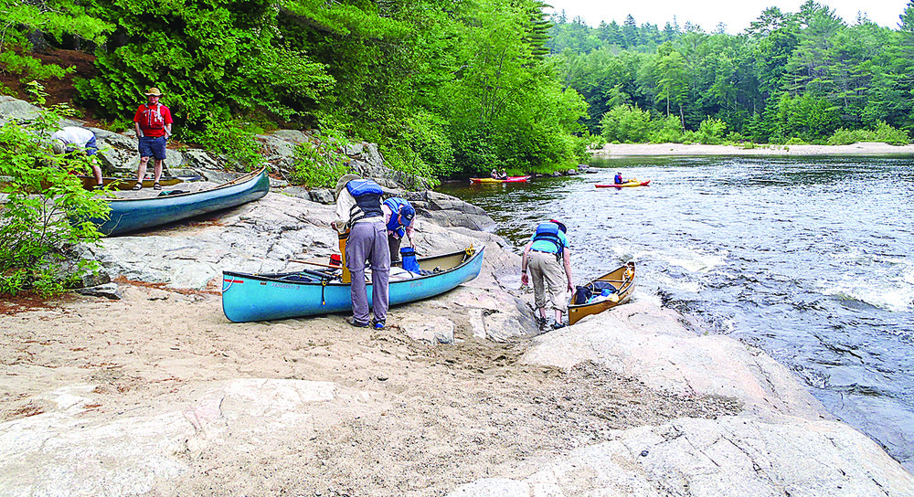 Getting ready to put in below Schroon Falls.   Rich Macha
