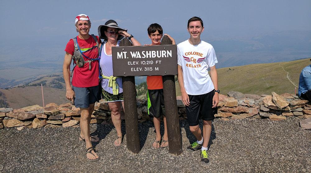 Yellowstone family run up Washburn.