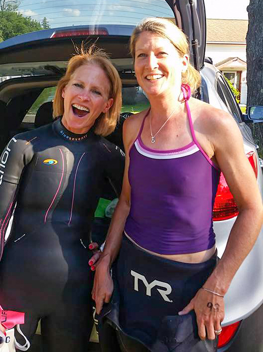 First open water 'swim' in 2016 with the author.