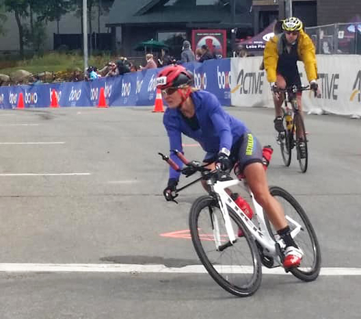 Bike and run at the 2018 Ironman 70.3 Lake Placid.