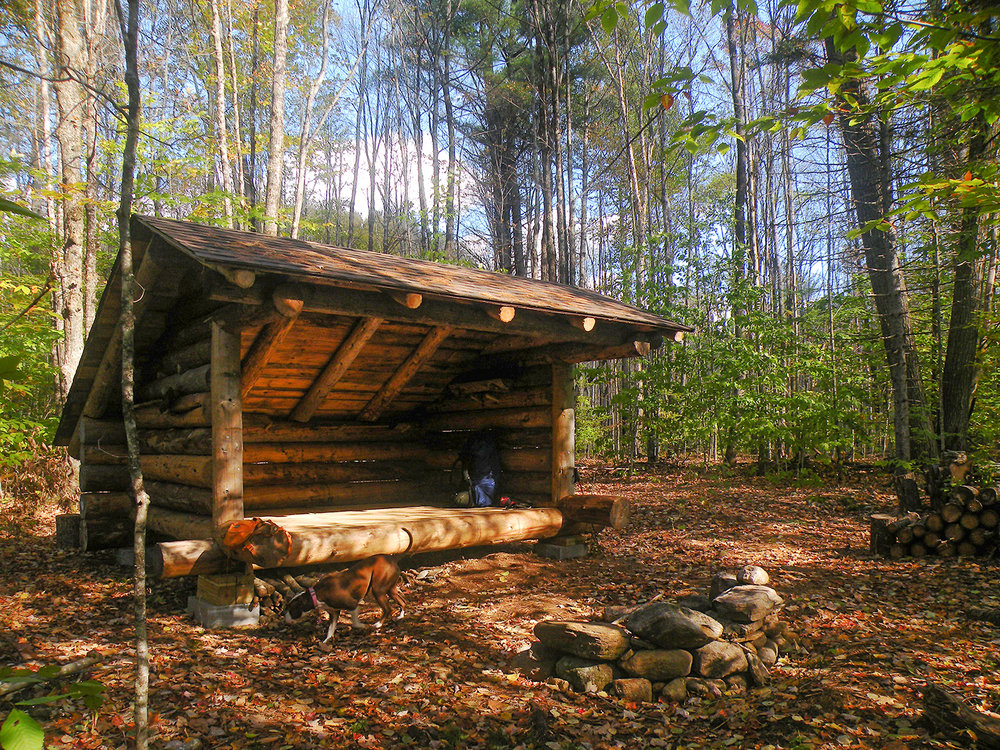 The newly built lean-to makes a nice destination for a weekend hike.   Bill Ingersoll